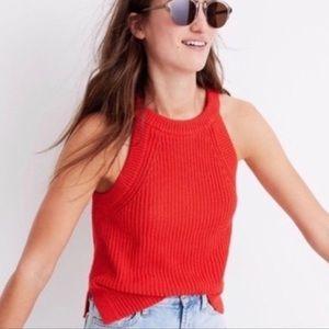 Madewell Valley Red Orange Sweater Tank